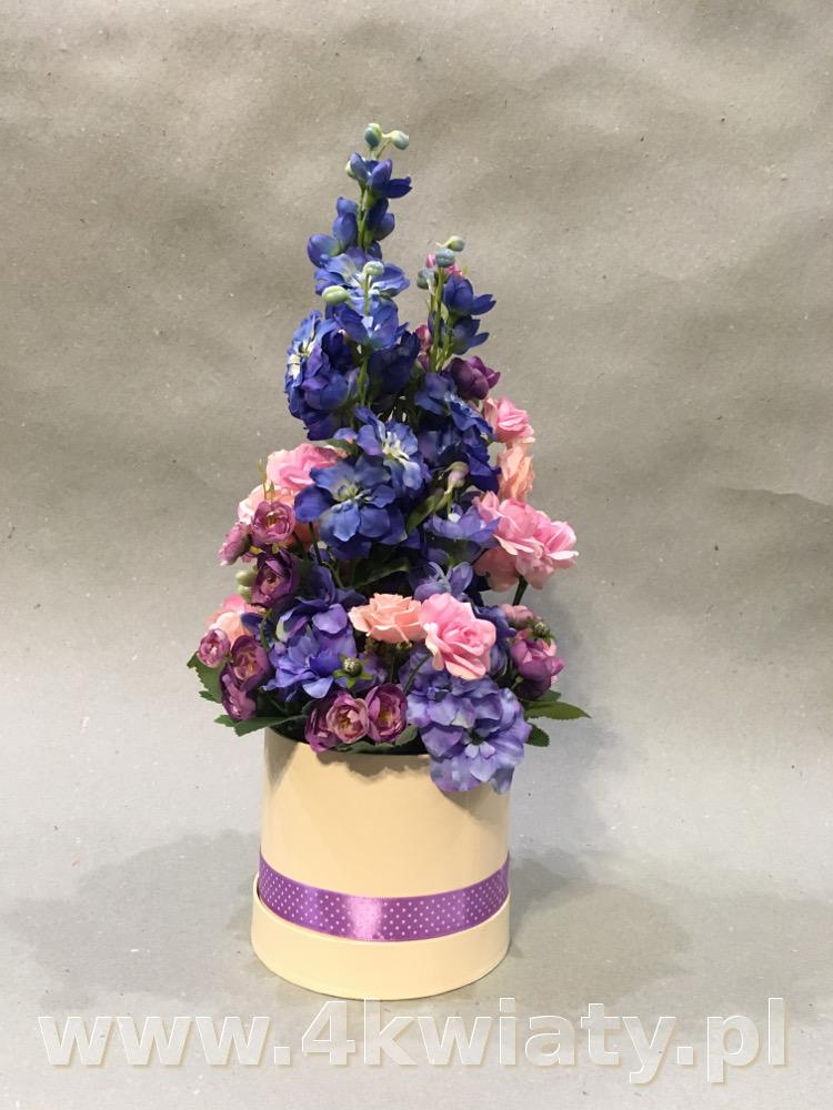 Flowerbox, pudełko ze sztucznymi kwiatami. Poczta florystyczna kwiatowa niespodzianka.