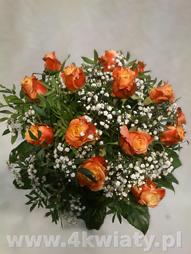 Bukiet herbacianych róż z gipsówką. Bukiet retro. Bukiet z dostawą