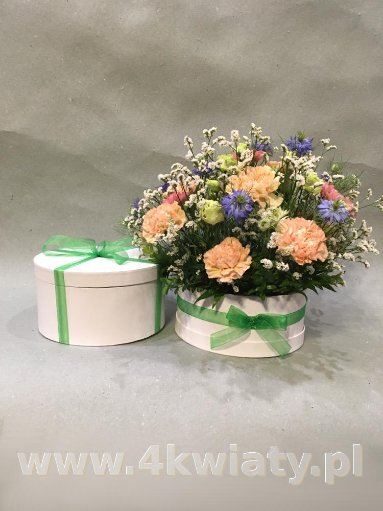 Flowerbox, kwiaty w pudełku i upominek