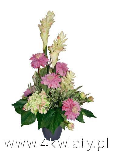 Dekoracja ze sztucznych, pięknych kwiatów wysokiej jakości do wazonu na grób